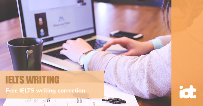 Free IELTS writing correction service