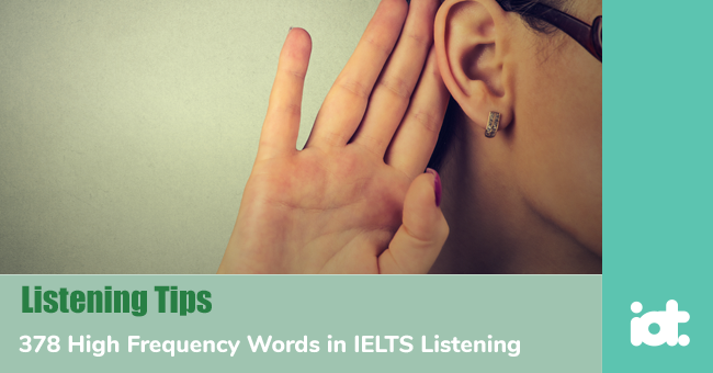 378 High Frequency Words in IELTS Listening