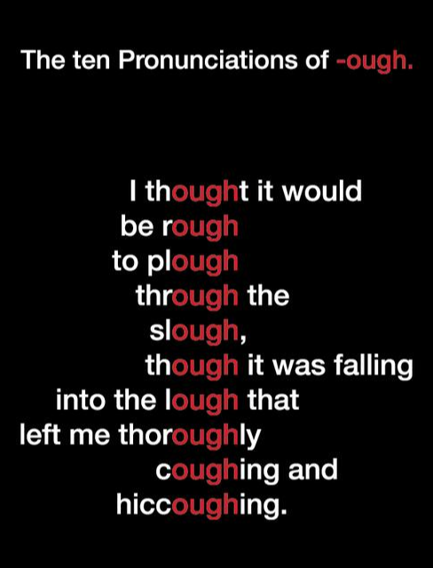 The 10 Pronunciations of -ough