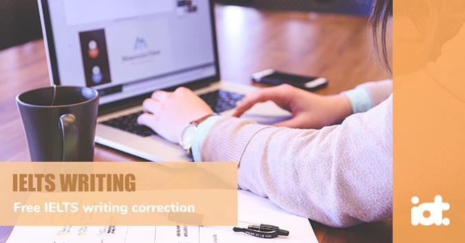Free IELTS writing correction service