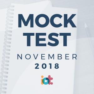 IELTS Mock Test 2018 - November